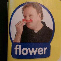 Flower - Makaton / Sign / Mr Tumble / Something Special Sign Language Phrases, Baby Sign Language, Second Language, Makaton Printables, Makaton Signs British, Mr Tumble, Eyfs Classroom, British Sign Language