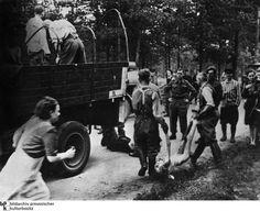 Entierro de los cadáveres: Los hombres de las SS detenidos son menores de guardia ...