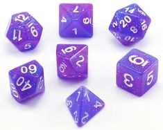 Put the fate of the universe in your hands with Eclipse Dice (Galaxy Purple)! These beautiful...