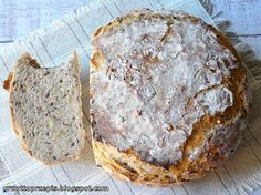 GRUNT TO PRZEPIS!: Chleb z garnka z ziarnami Bread N Butter, Polish Recipes, Daily Bread, Scones, Banana Bread, Food And Drink, Cooking, Breads, Crack Crackers