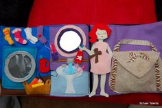 Bathroom, laundry room, and accessories purse quiet book page