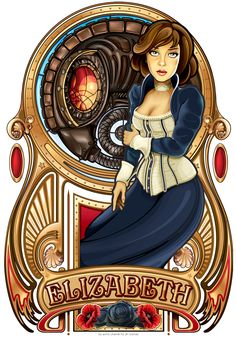Echo Chernik (Echo-X Studios) illustrated this for Irrational Entertainment's Bioshock Infinite.