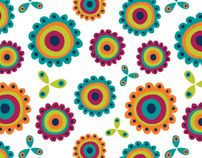 Jolly Blooms [Pattern Collection] by Veronica Galbraith, via Behance