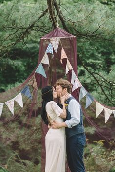 Boho Gypsy Vintage Circus Wedding at Anchor Village, Pennsylvania with circus wedding and boho wedding inspiration, teal accents and colorful pennants by www.oakwoodphotovideo.com, a Pittsburgh Wedding Photographer