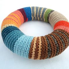 colorful crochet bracelet - Google Search