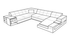 Small Sunrise Sofa Sectional by Scene Furniture from Opulent Items IHSO2604