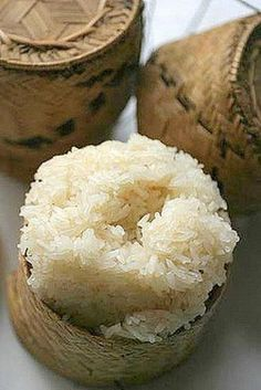 Lao Sticky Rice. Chris misses this stuff so much. I should probably learn to make it.