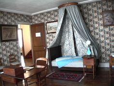 Dormitorio del Grl San Martín en el Museo de Boulogne Sur mer
