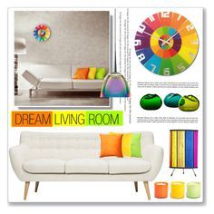 """rainbow accent"" by nanawidia ❤ liked on Polyvore featuring interior, interiors, interior design, home, home decor, interior decorating, NeXtime, Ralph Lauren, Pillow Decor and LAFCO"