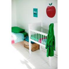 dekbedovertrek groen/framboos (140 x 200cm)