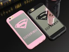 Superman/Superwoman Lovers Soft Silicone Reflective Mirror iPhone Cover