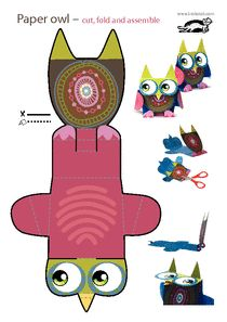 Printable paper toys!! KROKOTAK PRINT