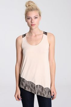 Lucca Asymmetric Lace Cami