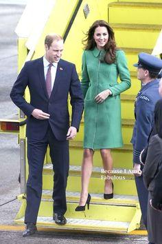 Fabulously Spotted: Kate Middleton Wearing Erdem - Hamilton Airport - http://www.becauseiamfabulous.com/2014/04/kate-middleton-wearing-erdem-cambridge-new-zealand/