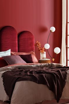 The ultimate boudoir of opulence with our Poppy bedhead in the latest edition of Home Beautiful, styled by Fiona Gould and lensed by Brigid Arnott. Bedroom Wall Colors, Room Colors, Bedroom Decor, Girls Bedroom, Colours, Quirky Home Decor, Cheap Home Decor, Indian Home Interior, Interior Decorating