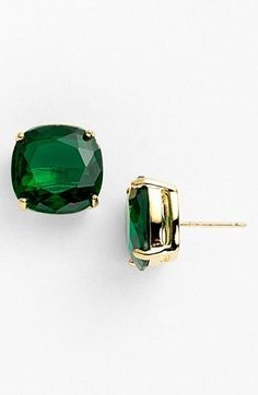 Emerald Earrings kate spade new york stud earrings (Save Now through available at Women's kate spade new york small square stud Jewelry Box, Jewelry Accessories, Fashion Accessories, Fashion Jewelry, Jewlery, Emerald Earrings, Small Earrings, Green Earrings, Gemstone Earrings