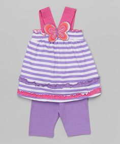 Purple Butterfly Tank & Shorts - Infant, Toddler & Girls by Nannette Girl #zulily #zulilyfinds