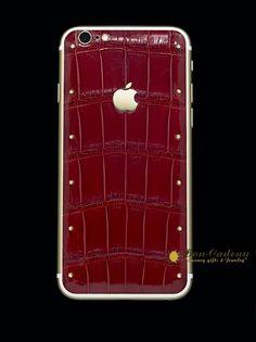 iPhone 7 с бриллиантами и кожей аллигатора. Память максимальная 256 гб. Скидка 50%