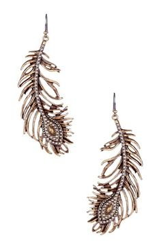 Lucky Brand    Two-Tone Feather Dangle