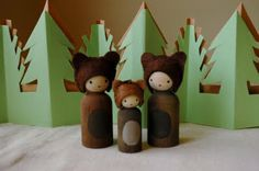 This is supposed to be the three bears, but a lot of them could work for a teddy bear picnic.