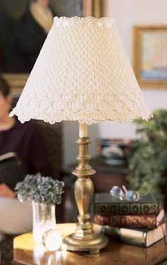 Cover a boring pleated plastic shade with sweetness