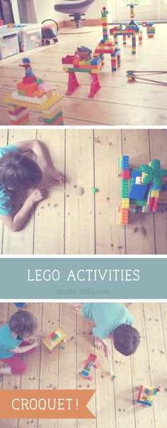 Fantastic LEGO activities for kids: build a croquet course! Construct arches & bridges, and hit the ball through them using a wooden spoon! Find more ideas and variations here.. #lego #duplo #legoparty
