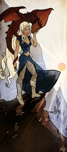 Daenerys Targaryen - Game of Thrones - ayanimeya.deviantart.com