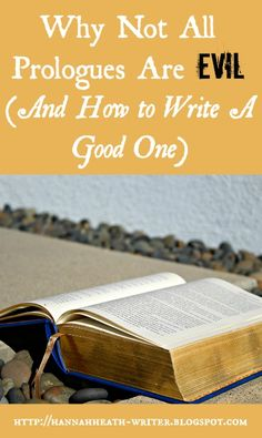 Hannah Heath: Why Not All Prologues Are Evil (And How to Write A...