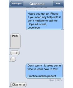 texting... Practice makes perfect.