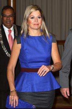 Máxima de Holanda siempre incorpora a su vestuario las últimas tendencias como el 'peplum'.