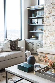 Modern Cabin Great Room Styling