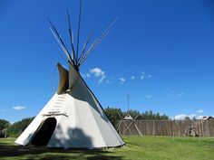 Tipi with Fort, Heritage Park Historical Village, Calgary, Alberta, Canada by Bencito the Traveller, via Flickr