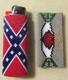 Bic Lighter Covers, Confederate Flag and Claddagh. Patterns available for sale