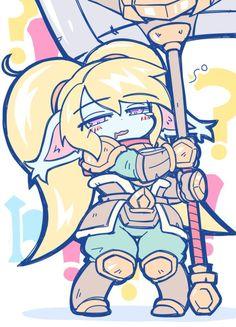 Poppy League, League Of Legends Poppy, League Of Legends Comic, Veigar League Of Legends, Overwatch Comic, D&d Dungeons And Dragons, Fire Emblem, Anime Art Girl, Character Concept