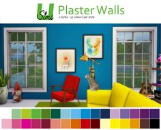 Maxis Match CC for The Sims 4 • unobservantsims:   The walls that come with the...