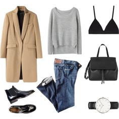 Non Chalant by fashionlandscape on Polyvore featuring Mode, rag & bone, Citizens of Humanity, Proenza Schouler, Daniel Wellington and Mansur Gavriel