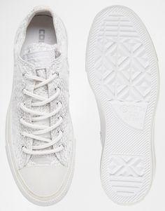 Bild 2 von Converse – All Star Ox – Weiße Turnschuhe mit Reptilienmuster