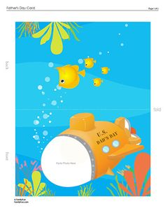 """Cute Father's Day photo card printable with an insert for the inside saying """"I love you because..."""" and  """"I have fun when we..."""" :)"""
