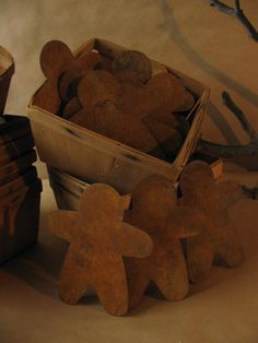 Vintage gingerbread men.