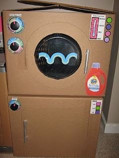 how to make a cardboard washing machine
