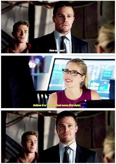 Awww Oliver and Felicity!!