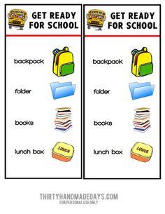 Kids Morning Checklist on Pinterest