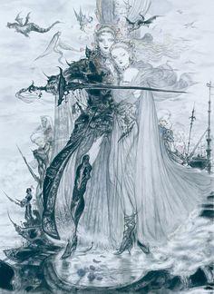 Art by Amano Yoshitaka.