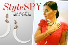 We spotted some stellar style while star-gazing: Grab Nelly Furtado's look with a pair of Jenny Bird Grier Earrings.