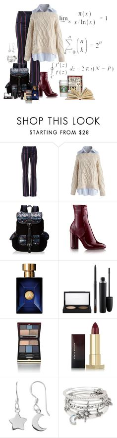 """""""Preppy Fall"""" by lily0906 ❤ liked on Polyvore featuring Altuzarra, Chicwish, Wild Pair, Versace, MAC Cosmetics, Kevyn Aucoin, Alex and Ani and preppy"""
