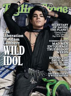 (June 2009, USA) Adam Lambert on the cover of 'Rolling Stone'. His Rolling Stone cover story became the magazine's best selling issue of the year!