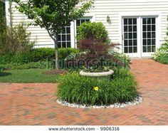 images of brick herringbone patios - Google Search