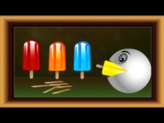 Learn Colors with Pacman eating 3D Icecandy. Video for Kids Toddler Baby...
