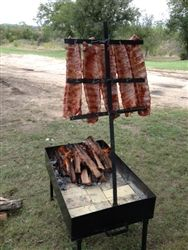 Truck or Trailer portable Asado Catering Grills, consisting of a fire table which should be lined with split firebricks and a grill table with removable grates. Completely modular, you can mix or match grates.