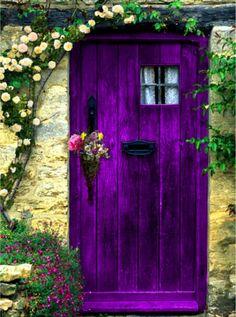 magical purple door!
